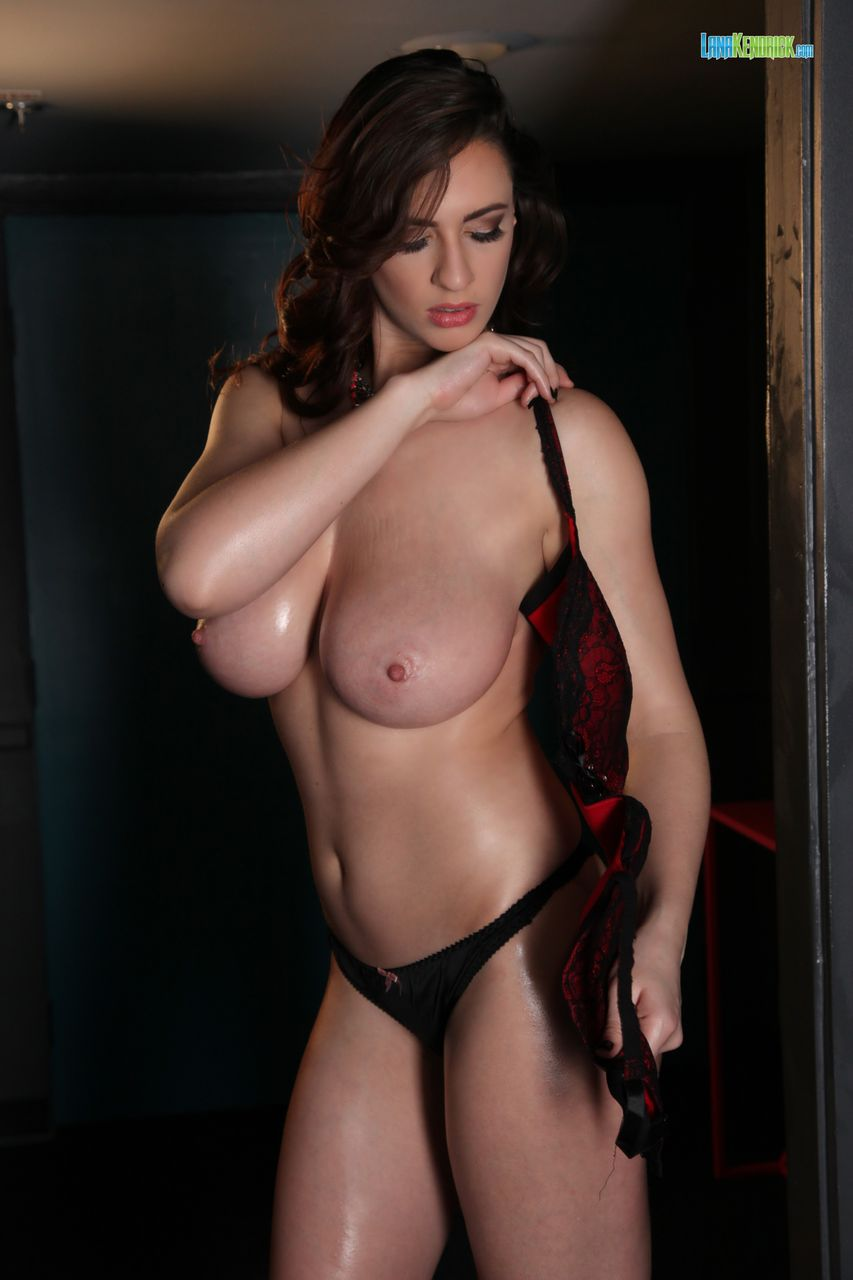 Lana Kendrick Red And Black Lace Bra Set 1 adult gallery